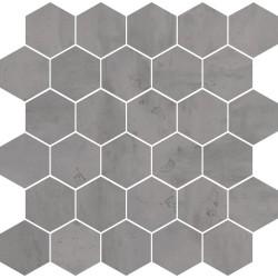 Mosaico Hexagono Acero Pearl