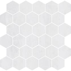 Mosaico Hexagono Acero Glaciar