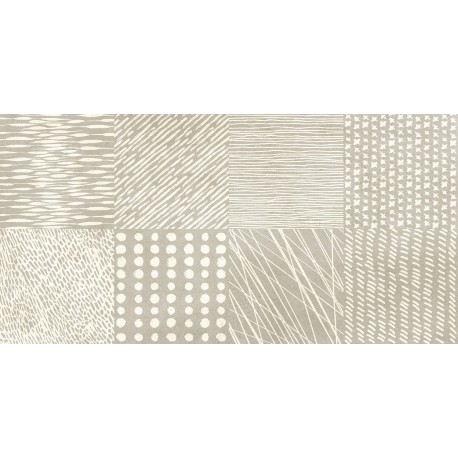 Three. Detroit beige Porcelanico cemento 30x60