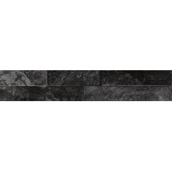Oset Ordino Black Porcelanico 8X44,2 aspecto piedra barcelona