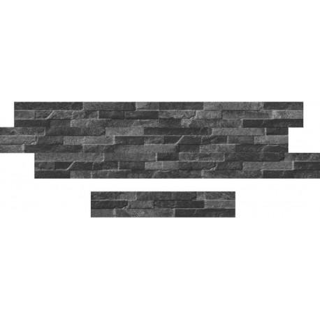 Oset de la céramique d'aspect pierre zeta Catane Sombre 8x45