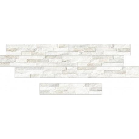 Oset de la céramique d'aspect pierre zeta Catane Blanc 8x45