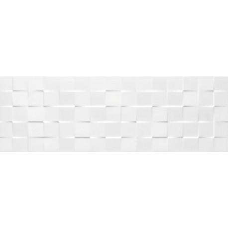 Tau Cerámica Sun blanco relieve cubic azulejos 25x75