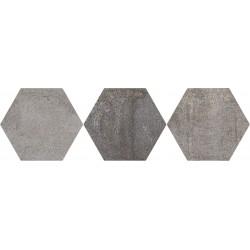 Oset Iron Grey porcelánico Hexagonal 20x24