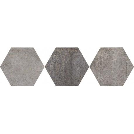 Oset Iron Brown porcelánico Hexagonal 20x24