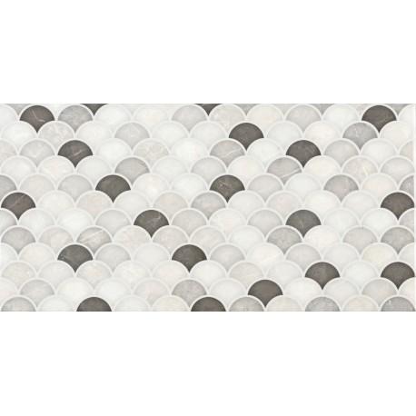 Sanchis. Carrelage de salle de bain aspect marbre Venice Blanco 30x60