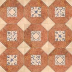 Mainzu. Pavimento rústico Olhambrilla barro 3 20x20