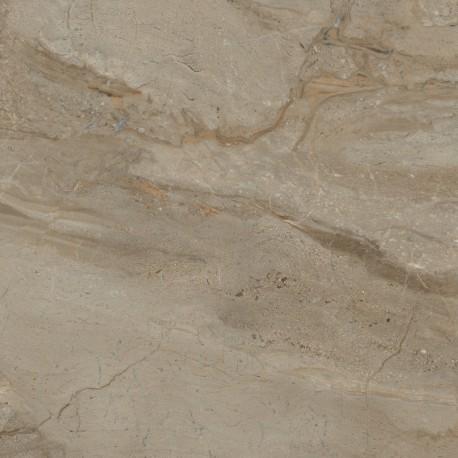 Baldocer. Grès cérame Pienza Miele aspect marbre poli 60x60