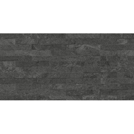Codicer. Revestimiento porcelánico imitación pizarra Makalu black 33x66