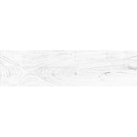 Colorker Columbia blanc 22x84 grès cérame effet bois blanc