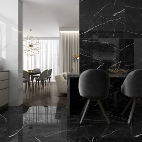 Mistery Black Carrelage marble Colorker