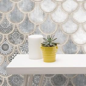 Granada Porcelánico tipo escama 32,5x32,5