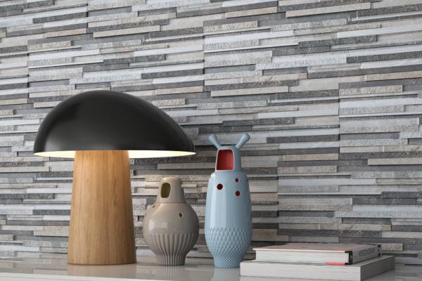 Denali gres porcelánico imitación piedra para fachadas y muros de exterior